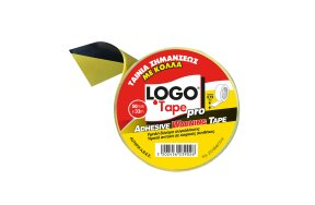 SELF ADHESIVE LOGO TAPE YELLOW-BLACK